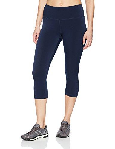 Amazon Essentials Women's Performance Mid-Rise Capri Active Legging, Navy, Medium