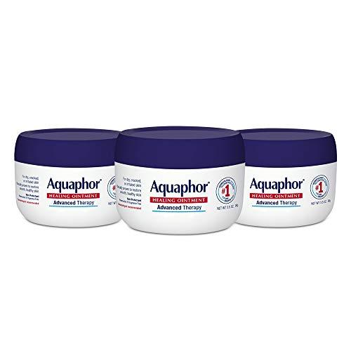 Aquaphor Healing Ointment - Skin Protectant for Dry Cracked Skin - Hands, Heels, Elbows - 3.5 oz Jar (Pack of 3)