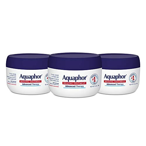 Aquaphor Healing Ointment - Pack of 3, Skin Protectant for Dry Cracked Skin - Dry Hands, Heels, Elbows - 3.5 oz.