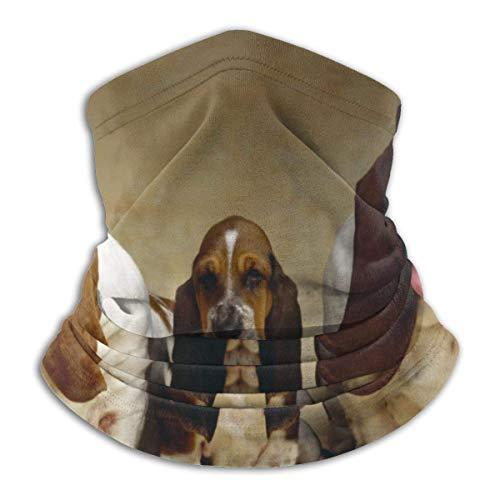 LENGDANU Tres perros unisex invierno polar calentador de cuello polainas Hairband tubo frío cara térmica cuello bufanda al aire libre protección UV fiesta cubierta