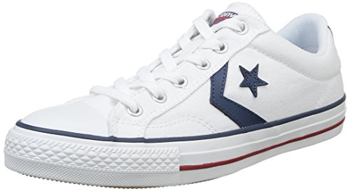 Converse Lifestyle Star Player Ox Zapatillas, Unisex Adulto, Blanco White/Navy 111, 42 EU