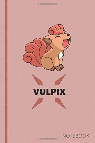 Vulpix: Anime Lover Notebook, 120 Squared Pages, Gift, School&Office, Pokemon, Vulpix