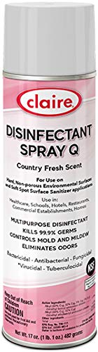 Claire Disinfectant Q - Scent Spray Country Fresh, 17 Ounce