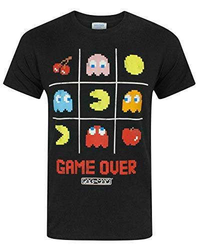 """Pac-Man """"Game Over Tic Officiel Hommes Tac Toe Rétro caractère T-Shirt"""