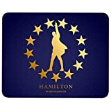 Hamilton Gold Star Mouse Pad for Typist Office, Hamilton Musical Quality Comfortable Mouse Pad (Mouse Pad - Navy)