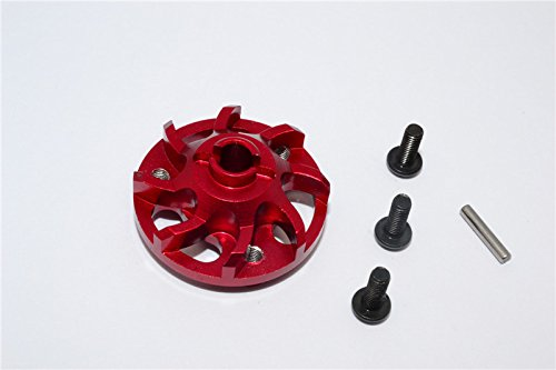 Traxxas Craniac Upgrade Pièces Aluminium Spur Gear Adapter (for Original Spur Gear) - 1Pc Set Red