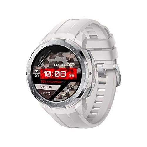 HONOR Watch GS Pro Smartwatch Orologio Fitness Uomo Donna 25 Giorni di Batteria, Monitoraggio SpO2 Frequenza Cardiaca e Stress,1.39'' AMOLED, GPS 5ATM Impermeabile Smart Watch, Per Android, Bianca