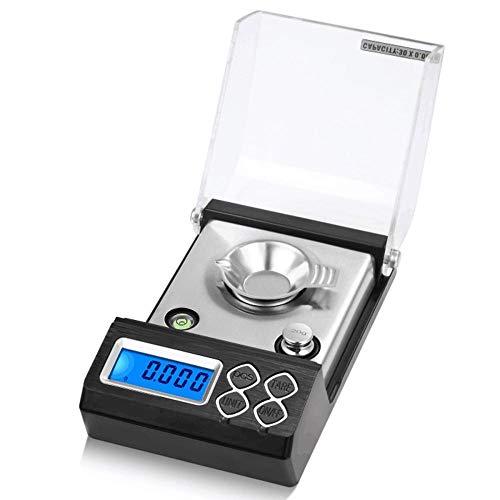 50g / 0,001g Escala de miligramos digital de alta precisión Mini balanza electrónica profesional Escala de polvo Joyas de oro Escala de quilates 20g / 0,001g