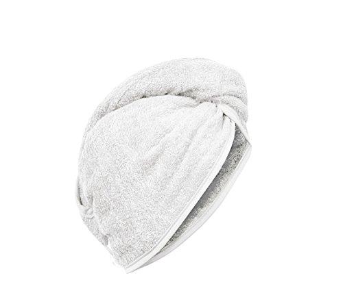 Carenesse Haarturban weiß, 100{d865071bca0fb4973fe203d7f5b694928016b49a793296080a5b90a2bf75d59d} saugstarke Baumwolle, Aufsetzen – Einwickeln - Festknöpfen - Stabiler Halt, Kopf Handtuch, Haar-Turban, Haar Turban, Kopfhandtuch, Haartrockentuch, Handtuch für Haare