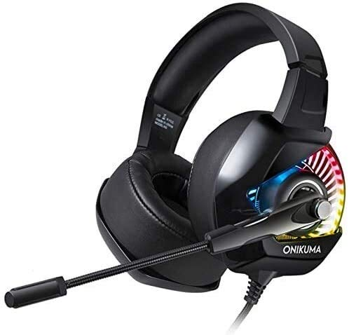 Faus Koco Gaming Headset Stereospiel-Kopfhörer Mit RGB LED-Licht for Computer PC for PS4 Gamer Xbox One...