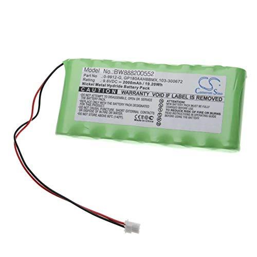 vhbw batería Compatible con Visonic Powermax Pro Control de Alarma Seguridad (2000mAh, 9.6V, NiMH)