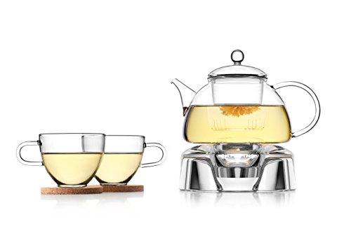 Tea Soul B6021838 Service Á Thé avec Support Verre