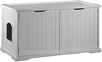 Merry Products Decorative Bench With Enclosed Cat Litter Washroom Box