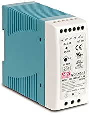 DIN-Rail Fuente de alimentación 60W 12V 5A ; MeanWell, MDR-60-12