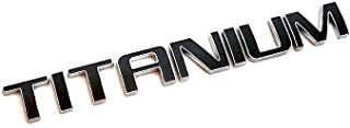 EMBLEM TITANIUM FOR FORD CARS CHROME WITH BLACK REPLACEMENT