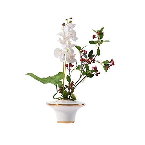 NYKK Künstliche Blume Modern Licht Künstliche Blumen Künstliche Topfpflanze, Geeignet for Villa Hotel Dekoration, künstliche Blumen-Frucht-Blumenverzierung Künstliche Pflanze gefälschte Blumen Ewige