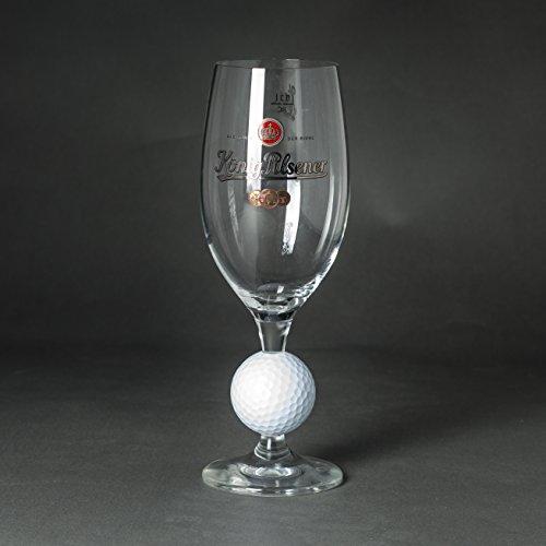 König Pilsener Glas mit Golfball