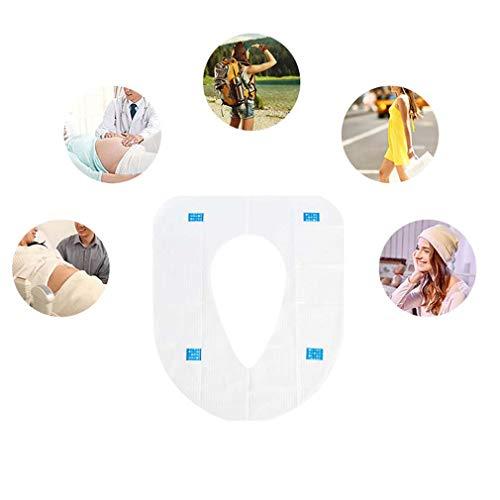 60 PCS Travel Disposable Toilet Seat Cover (Primary Wood Pulp Paper + PE-Folie) Waterdichte Draagbare Toilet Pad Wc Mat Voor Baby Zwanger Mamma, Onafhankelijke Verpakking,6 pcs *3
