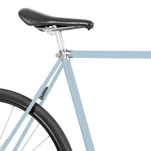 MOOXIBIKE Nordic Blue Fahrradfolie glänzend für Rennrad, MTB, Trekkingrad, Fixie, Hollandrad, Citybike, Scooter, Rollator für circa 13 cm Rahmenumfang