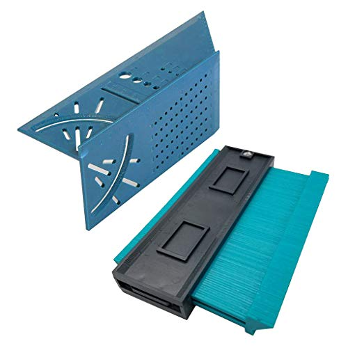 Gazechimp 3D Mitre Angle Measuring Ruler& Contour Gauge Copy Measuring Tool