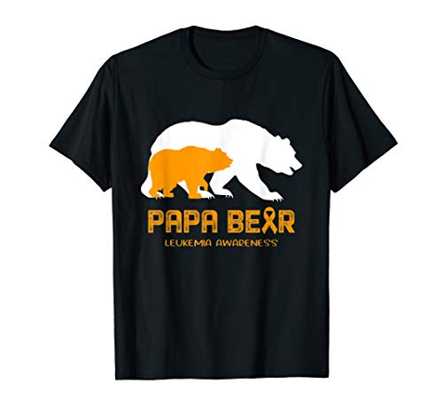 Papa Bear Support LEUKEMIA Awareness T-Shirt