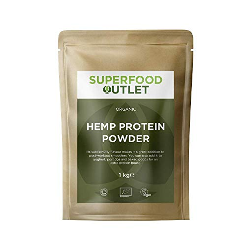 Superfood Outlet Organic Hemp Protein Powder 1kg