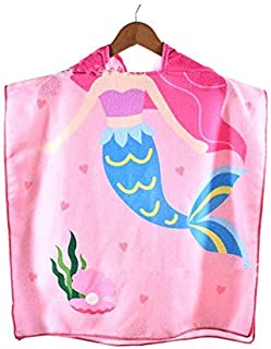 Baby Towel Kid Cartoon Printed Hooded Bath Towel Child Cape Cute Beach Towel for Children Cloak Cosy Towel Ocean World 3 t...
