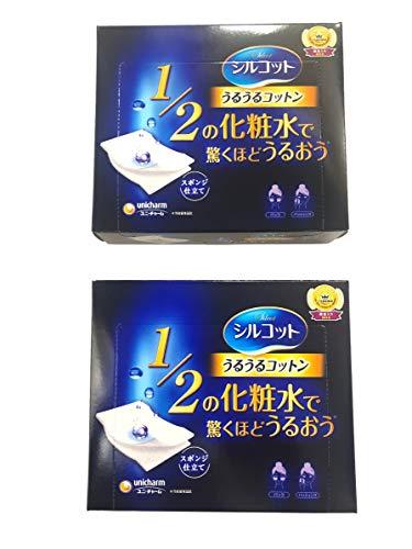 Unicharm Silcot Uruuru Sponge Facial Cotton, 1.8 Ounce(40 Sheets) X Value Set by Unknown