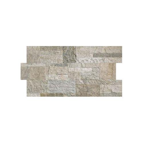 1 piastrella gres Fiordo Rockstyle effetto pietra rivestimento parete moderno, R-Silver