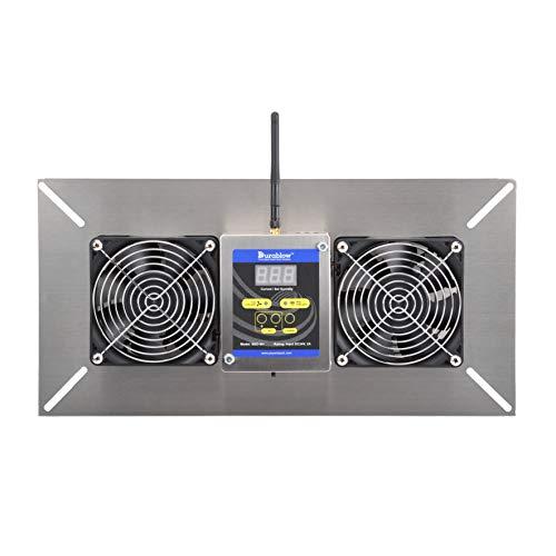 Durablow Stainless Steel Crawl Space Foundation Fan Ventilator + Built-in Dehumidistat (Stainless steel silver, M2D Smart Home (WiFi))