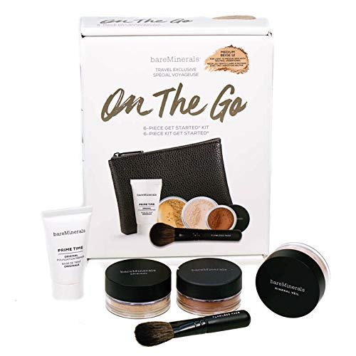 BareMinerals On The Go Makeup Starter Kit - Medium Beige Foundation 6 Piece Set