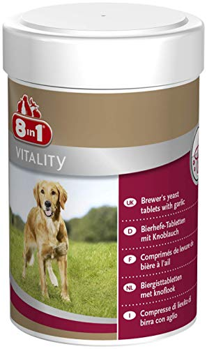 8in1 Bierhefe Tabletten (Nahrungsergänzung, für gesunde Haut und glänzendes Hundefell, reduziert nährstoffmangel-bedingtes Haaren) 1 Dose (260 Tabletten)