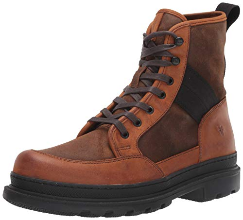 FRYE Men's Scout Combat Boot, Brown Multi, 11 M US