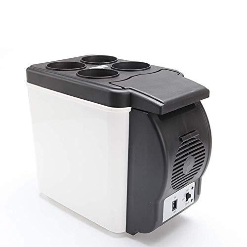 XiYou Refrigerador para automóvil/Mini congelador/Pequeño portátil-6L, Puede Contener 6 Botellas de 330 ml-Refrigerador para automóvil de bajo Ruido y Ahorro de energía de 12V, frío y Calor