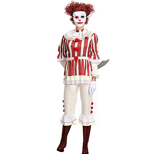 Halloween Clown Uniform Horror Film Cosplay Joker Kostuums Grappig Paar pak Magician Stage Kleding
