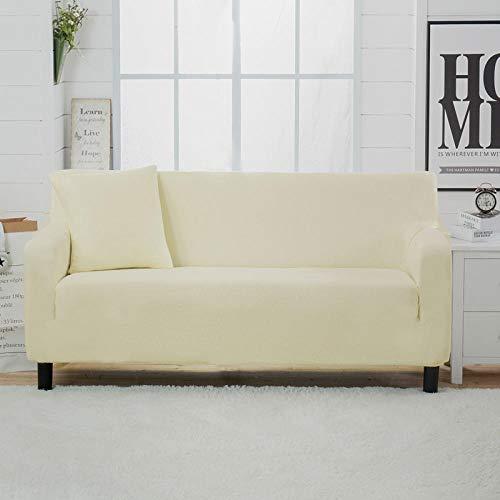 Allenger Universal Cubierta para Sofá,Funda de sofá elástica Gruesa de Color sólido, para Todas Las Estaciones, Universal, Todo Incluido, cojín para sofá, Funda para sofá, Toalla-Yellow_145-185cm