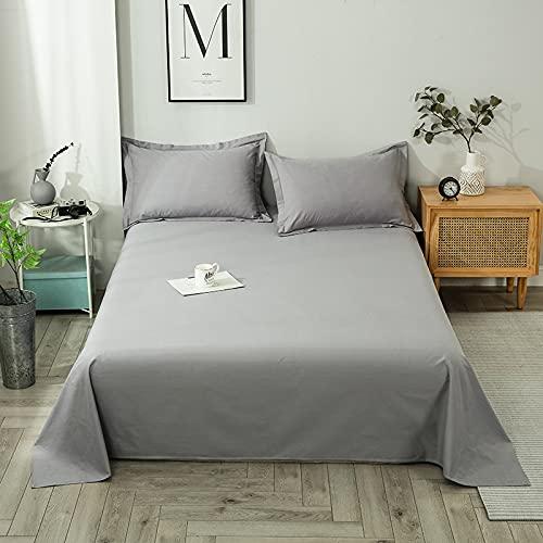 Juego de sábanas de Punto de algodón Awdasd 100% algodón   Juego de sábanas 100% algodón de Calidad-Gris Clair   230 * 250 cm