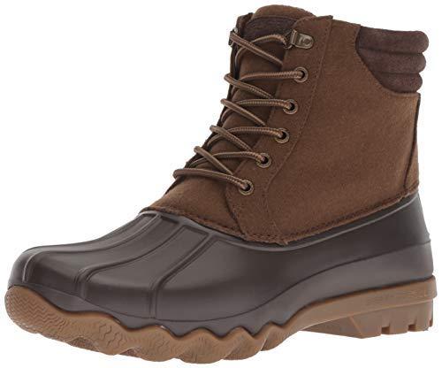 Sperry Men's Avenue Duck Wool Rain Boot, Brown, 10.5 M US