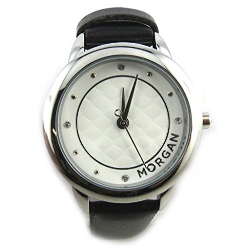 Morgan [N2372] - Armbanduhr 'French Touch' 'Morgan' schwarz weiß.