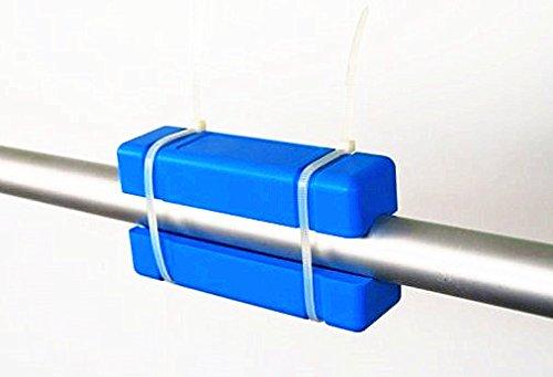Nuevo largo azul magnético acondicionador de agua descalcif