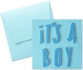 It's a boy - carta a pois - motivi a rilievo - biglietto d'auguri (formato 12 x 12 cm) - vuoto all'interno, ideale per il ...