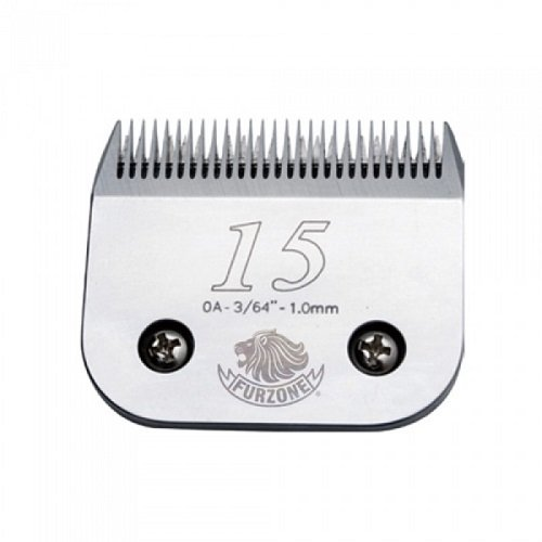 """#15 (0A-3/64""""-1.0 mm) barber beauty clipper blades compatible with Oster, Andis, Conair, Wahl, Laube, Thrive - Furzone Furzone #15"""