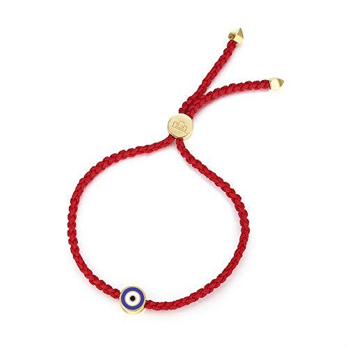 Obidos Evil Eye Bracelet Red String Kabbalah Protection Handmade Adjustable Bracelet for Women Men Boys Girls (Red)