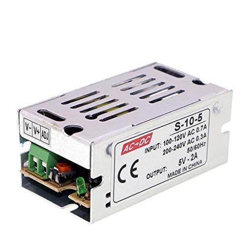 HAI Adaptador de Corriente Transformador AC110V / 220V a DC 5V 2A 10W Fuente de Alimentación Conmutada Regulada Universal