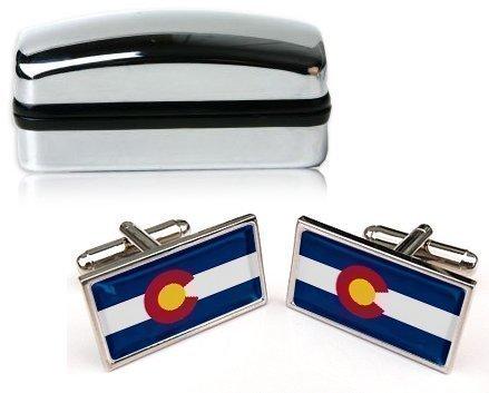 Colorado Hommes Boutons de manchettes avec CHROME emballage cadeau