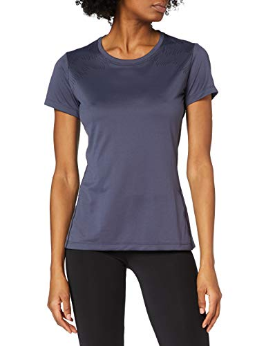 Odlo 312731 T-Shirt à Manches Courtes Femme Odyssey Gray/Placed Print Fw18 FR : L (Taille Fabricant : L)