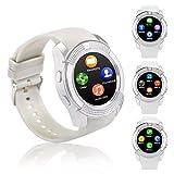 FENHOO Smartwatch SN08 Smart watch con slot per scheda SIM Touch Screen Fotocamera Pedometro Orologio Intelligente Compatibile Samsung Xiaomi Huawei Telefoni Android e iOS Uomo Donna Bambini (Bianca)