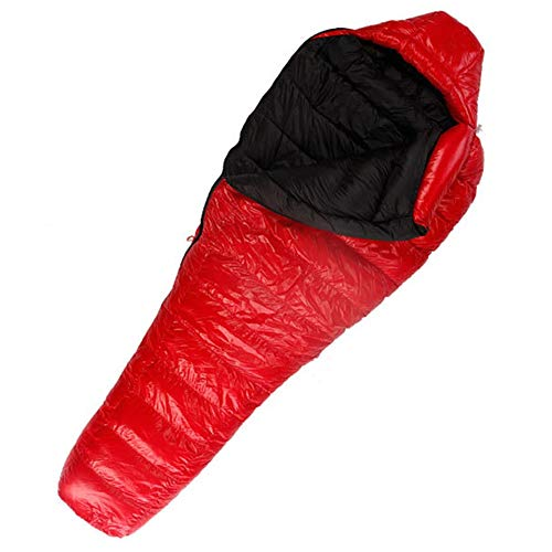 Goodvk Adult Sleeping Bag Mummy Sleeping Bag Camping Sleeping For Adult Backpacking Winter Sleeping Bag For Hiking Traveling Outdoor Activities Easy to Carry (Color : Red, Size : 216x82cm)