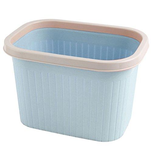 PRIDE Trash huis woonkamer slaapkamer badkamer grote creatieve keuken deksel plastic sanitaire papier mand kleine prullenbak (Color : Blue, Size : A)