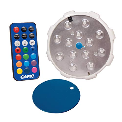 GAME 4307-BB Waterproof Magnetic LED Color-Changing Pool Wall Light with Remote Control 100% Waterproof & Submersible, 4', Old Model (Discontinued)